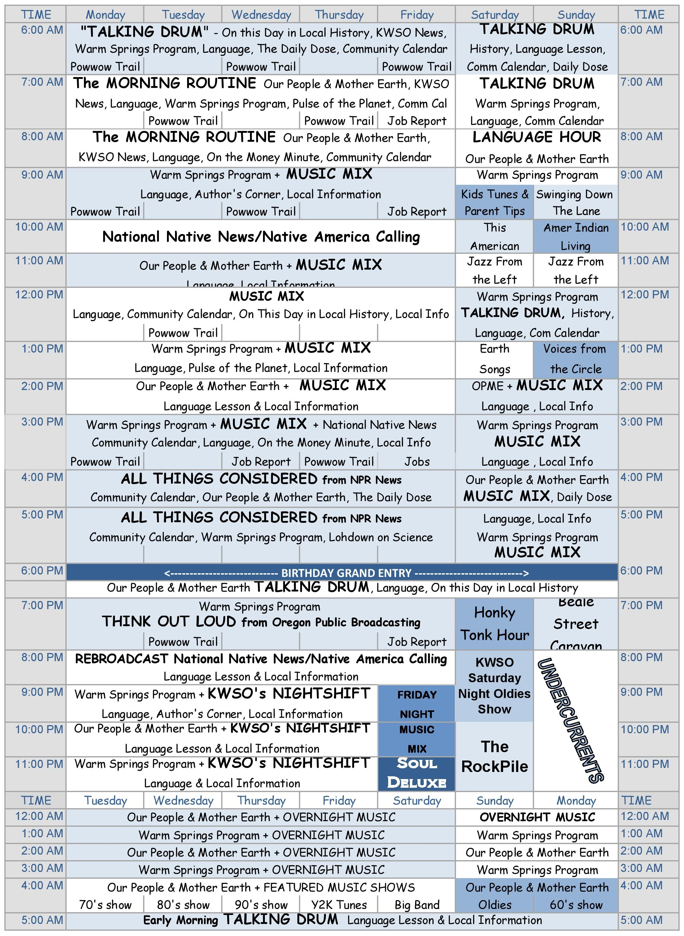 KWSO Program Guide January 2016 no heading 041316
